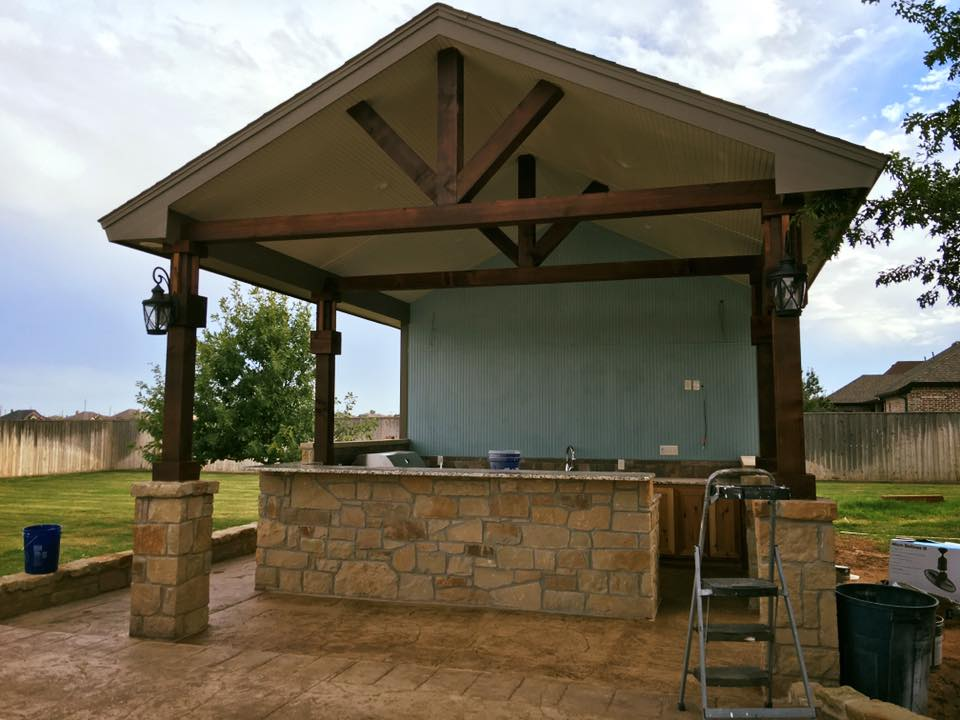 outdoor kitchen contractor lubbock tx